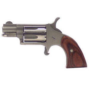 "NAA Mini-Revolver Single Action Revolver.22 Long Rifle 1-1/8"" 5 Round Barrel Wood Boot Grips 22LRGBG"