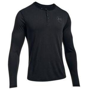 Under Armour UA Freedom Threadborne Henley Men's Long Sleeve Shirt 3XL Polyester True Gray Heather