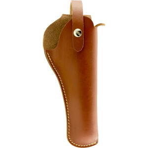 """Hunter Company VersaFit 5"""" to 6"""" Barrel Medium/Large Revolver Belt Holster Right Hand Retention Strap Hand Crafted Top Grain Leather Brown"""
