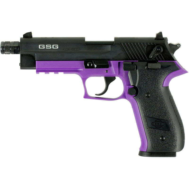 "ATI/GSG Firefly HGA 22 LR Semi Auto Pistol 4.9"" Threaded Barrel 10 Rounds Alloy Frame Purple/Black"