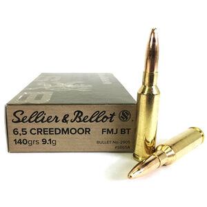 Sellier & Bellot 6.5 Creedmoor Ammunition 20 Rounds FMJBT 140 Grains
