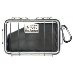 Pelican Sport Micro Case Black With Clear Lid 1040-025-100