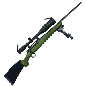 "Mossberg Patriot Night Train Bolt Action Rifle .308 Win 22"" Fluted Barrel 4 Rounds OD Green Synthetic Stock Blued with 6-24x50 Scope 27924"