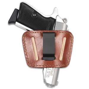 JBP Belt Slide Holster Leather Small Brown Ambidextrous 036BR