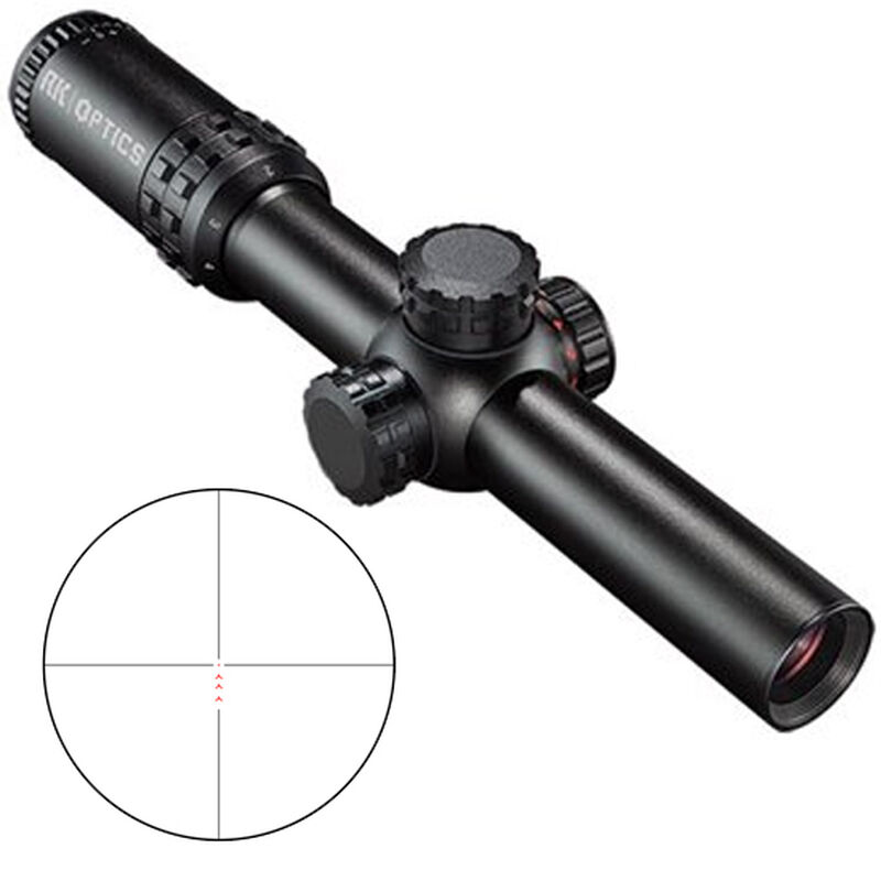 Bushnell AK Optics 1-4x24mm Riflescope 7.62x39 BDC Reticle 30mm Tube .25 MOA Adjustments Second Focal Plane Matte Black