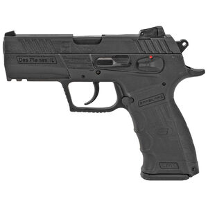 "SAR Arms CM9 9mm Luger Semi Auto Pistol 3.8"" Barrel 17 Rounds Magazine Adjustable 3 Dot Sights Ambidextrous Controls Picatinny Rail Matte Black"