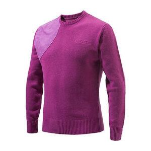 Beretta Men's Classic Round Neck Sweater Size Large Wool Blend Violet Purple