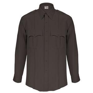 "Elbeco Textrop2 Men's Long Sleeve Shirt Neck 18.5 Sleeve 35"" 100% Polyester Tropical Weave Black"