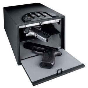 """GunVault Standard Multi Compartment Handgun Safe, 14"""" x 10"""" x 8"""", Steel, Black"""