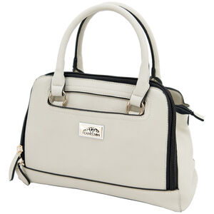 """Cameleon Belladonna Purse with Concealed Carry Gun Compartment 13""""x10""""x4"""" Synthetic Leather Cream"""