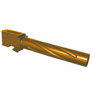 Rival Arms Barrel for GLOCK 17 Gen 3/4 Models 9mm Luger Fluted 416R Stainless Steel PVD Coating Bronze Finish
