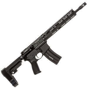 "BCM Recce-12 MCMR AR-15 .300 AAC Blackout Semi Auto Pistol 12.5"" Barrel 30 Round Magazine MCMR-10 Free Float Hand Guard SBA3 Pistol Stabilizing Brace Matte Black"