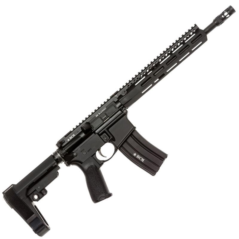 "BCM Recce-12 MCMR AR-15 .300 AAC Blackout Semi Auto Pistol 12.5"" Barrel 30 Round Magazine MCMR-10 Free Float Hand Guard SBA3 Pistol Stabilizing Brace Matte Black"
