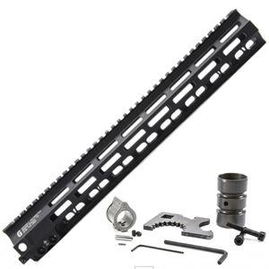 "Geissele Automatics AR-15 Free Float 15"" Super Modular Rail MK8 M-LOK Black"