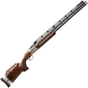 "Browning Citori 725 Trap Max 12 Gauge O/U Break Action Shotgun 32"" Ported Barrels 2-3/4"" Chambers 2 Rounds Adjustable High Rib Fully Adjustable Walnut Stock Silver Nitride/Blued Finish"