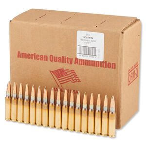 American Quality .308 Winchester Ammunition 250 Rounds Speer BTHP 168 Grains N308168VP250
