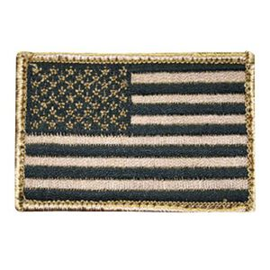BLACKHAWK! American Flag Patch Tan/Black 90DTFV