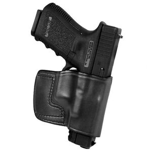 """Don Hume J.I.T. S&W M&P 4"""" Slide Holster Right Hand Leather Black"""