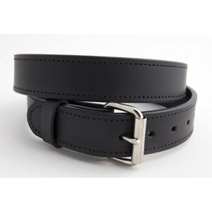 """Versacarry Double Ply 1.5"""" Leather Belt Nickel Plated Buckle Size 36 Black 301/42"""