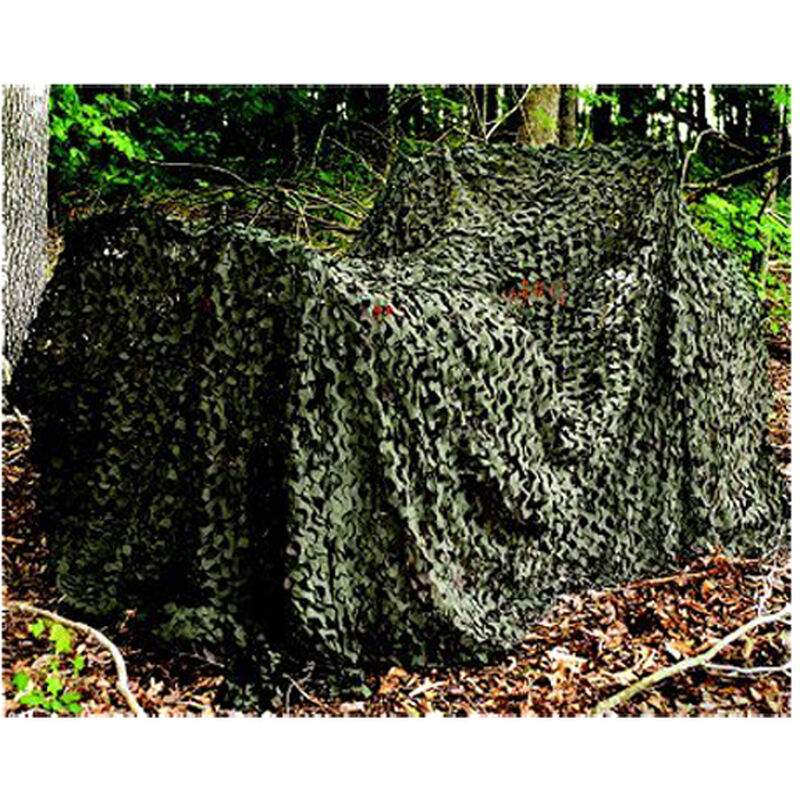 """Camo Unlimited Pro Military Camo Screen Mesh Netting 9'10""""x19'8"""" with Compression Bag Woodland Green/Brown MS02"""