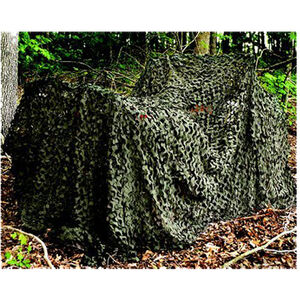 "Camo Unlimited Pro Military Camo Screen Mesh Netting 9'10""x19'8"" with Compression Bag Woodland Green/Brown MS02"