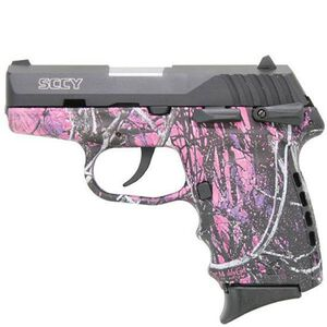 """SCCY CPX-1 Semi Auto Pistol 9mm Luger 3.1"""" Barrel 10 Rounds Manual Safety 3 Dot Sights Polymer Frame Muddy Girl Camouflage Finish"""