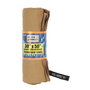 """Mil-Spec Super Absorbent Microfiber Towel 30""""x50"""" Coyote"""