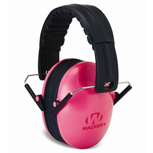 Walker's Game Ear Passive Baby/Kid Folding Earmuffs Pink