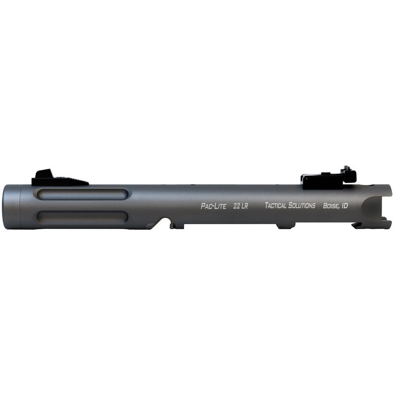 "Tactical Solutions Pac-Lite IV 4.5"" Threaded Fluted Barrel Ruger Mark IV or Ruger Mark IV 22/45 Aluminum Gun Metal Gray"