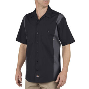 Dickies Men's Industrial Color Block Shirt S/S XL Tall Black/Charcoal