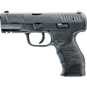 "Walther Creed 9mm Luger Semi Auto Pistol 4"" Barrel 16 Rounds Low Profile 3-Dot Sights Polymer Frame Black Finish"