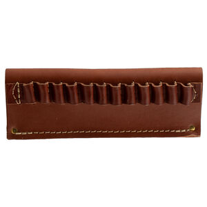 Hunter Company Handgun Cartridge Holder Belt Slide 38/357 Caliber with 12 Loops Leather Brown