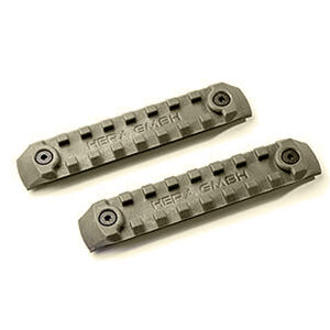 HERA Arms USA P-KMRS Polymer KeyMod Rail System 2 Rail Pieces Per Package Polymer OD Green