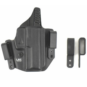 L.A.G. Tactical Defender Series OWB/IWB Holster GLOCK 26/27/33 Right Hand Kydex Black