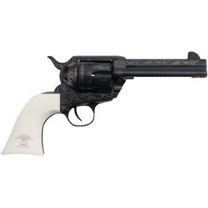 "Traditions 1873 Frontier Series Liberty Model .45 LC Revolver 6 Rounds 4.75"" Barrel White Grip Engraved Blued"