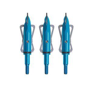 Rage 2 Blade Practice Broadheads 100 Grain Blue 3 Pack 31009