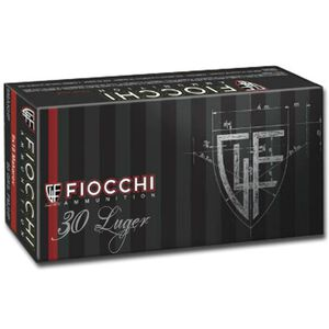 Fiocchi Classic .30 Luger Ammunition 50 Rounds Jacketed Soft Point 93 Grains 765B