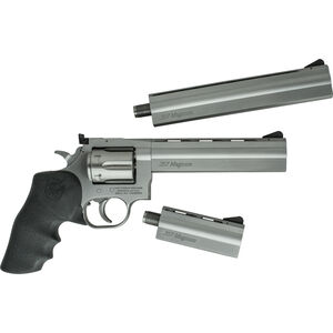 "CZ-USA Dan Wesson 715 Pistol Pack .357 Mag Revolver 4""/6""/8"" Barrels 6 Rounds Rubber Grips Stainless Steel"