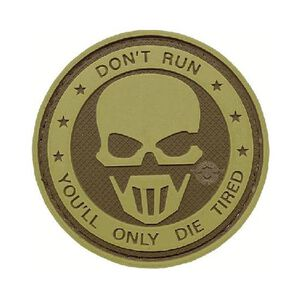 Tru-Spec PVC Morale Patch Don't Run Ghost 6784000