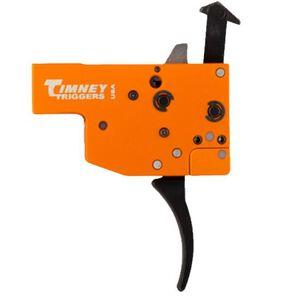 Timney Trigger for Tikka T3 2 Stage Adjustable Trigger Curved Trigger Shoe Steel Orange