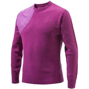 Beretta Special Purchase Men's Classic Round Neck Sweater Long Sleeve 2XL Wool Blend Violet