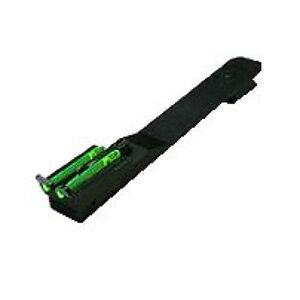 HiViz Rear Sight Rifles Dovetail Green Fiber Steel Black UNI2006