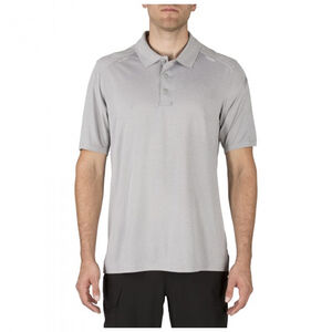 5.11 Tactical Helios Short Sleeve Jersey Knit Polyester Polo Shirt Extra Large Charcoal 41192
