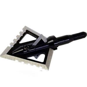 Magnus Broadheads Black Hornet 100 Grain 4 Blade Fixed Serrated Broadhead 3 Pack