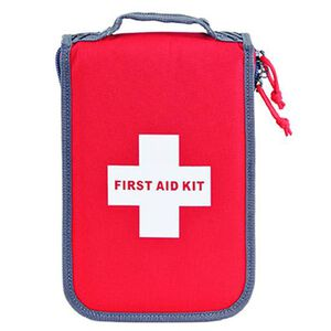 G Outdoors Inc Medium First Aid Kit Discreet Carry Case Nylon Red D1075PCR