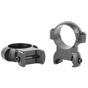 Leupold LRW Cross Slot Rings 30mm Med Steel Matte Black