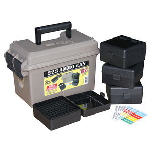 MTM Case-Gard Ammo Can, Rifle Multi-Caliber Kit, Water-Resistant, Dark Brown Earth