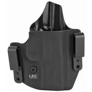 LAG Tactical Defender Series OWB/IWB Holster for FN 509 Models Right Hand Draw Kydex Construction Matte Black Finish