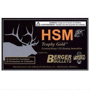 HSM Trophy Gold .257 Roberts Ammunition 20 Rounds 115 Grain Berger Match Hunting VLD BTHP 2955 fps