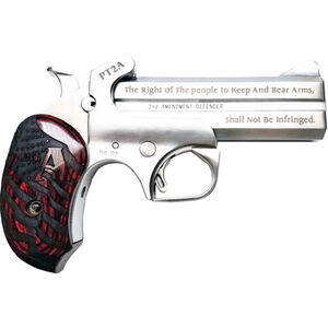 """Bond Arms PT2A Derringer .45 LC/.410 Bore 4.25"""" Barrels Rosewood Grips with Holster Stainless Steel Finish"""